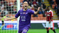 Borja Valero (ACF Fiorentina)  Borja Valero Iglesias of ACF Fiorentina celebrates scoring during an Italian Serie A match against AC Milan