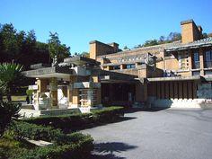 帝国ホテルの中央玄関部_ フランク・ロイド・ライト_明治村