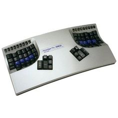 Kinesis Advantage Pro Metallic Includes Footswitch,  Available at http://funkycomputerstuff.com/