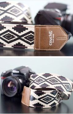 Vegan Camera Strap--made of vinyl but ages just like leather!