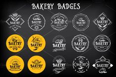 Bakery badges by BarcelonaShop on @creativemarket