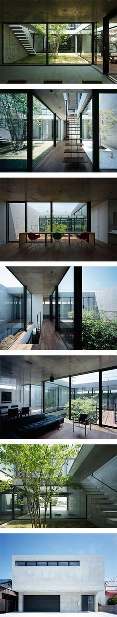 Still Japanese courtyard house featuring Furniture on Nuji.com #furniture #casasminimalistasjaponesas