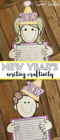 Let your elementary school students celebrate the New Year with this fun writing craftivity. It will help your students set and show off their goals for the new year.