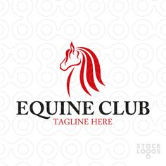 Logo shows an abstract profile of a horse head. Logo is well suited for a horse breeder, horse country club, horse riding school, horse veterinary or anything else related with equine and equestrian.