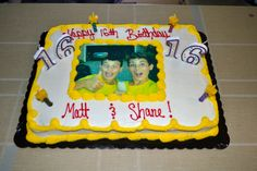 Share Your Birthday With A Friend And Have Goofy Picture Cake Made In Celebration Of This Milestone Birhtday