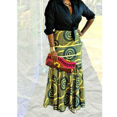 African Print maxi skirt from Zabba Designs.This Gorgeous African Print Maxi Skirt flatters your figure Fitted straight unlined skirt.and flares at the knee. Gathered flounce hem. Invisible zipper clo