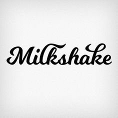 """Milkshake Typeface by Laura Worthington - Fairgoods  Milkshake is a thick, substantial script designed to become a favorite treat. Laura set out to """"create a design that would be friendly, readable, and versatile. I wanted it to be memorable, but still be a workhorse of a script font. I was really drawn to how round and thick it was turning out and I liked this look — it makes it a sturdy font, capable of holding up against busy backgrounds and bold enough for headlines or titling…"""