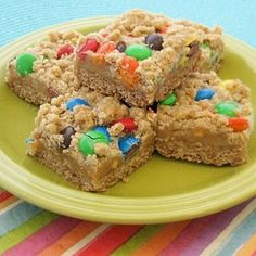 Peanut Butter Dream Bars. Your kids will keep asking for more!
