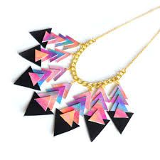 triangle statement necklace - Google Search