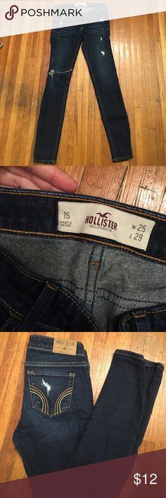Skinny jeans Lightly destroyed skinny jeans, moderately worn but still look great! I am 5'1 and these fit perfect these are a size 1 short Jeans Skinny