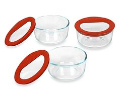 Pyrex 2 cup leak proof glass containers | Made in USA | School lunch gear