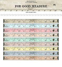 Digital distressed vintage wooden rulers /  wood by KBandFriends, $4.00