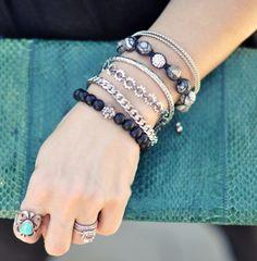 DIY Washer linked bracelet.