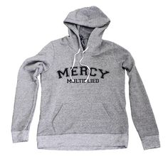 Mercy Multiplied Sweatshirt Mercy Multiplied is the essence of the mission of Mercy. This ladies eco-fleece is made of organic/recycled material and pre-washed with a front pouch pocket and contrast drawcord.