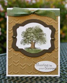 Krystal's Cards: Stampin' Up! Lovely as a Tree Sympathy