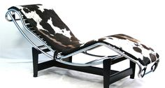 Le Courbusier Chaise Lounge Chair in Pony Hide