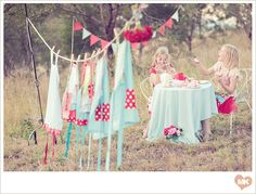 tea party....sure miss my friend January who could have thrown this together in less than an hour!!!