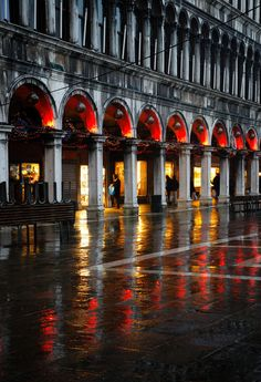 Evening Rain Reflections at Piazza San Marco ~ Venice, Italy