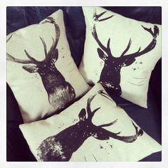 Deer cushions for sale on Etsy.com. https://www.etsy.com/listing/185514747/deer-cushion-screen-printed-handmade?ref=listing-shop-header-1