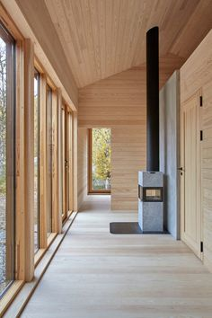 Heggesætra House | Hesselbrand Gable Roof, Timber Cladding, Ceiling Height, Interior Walls, Solar Panels, Facade, Accent Decor, Stairs, Exterior