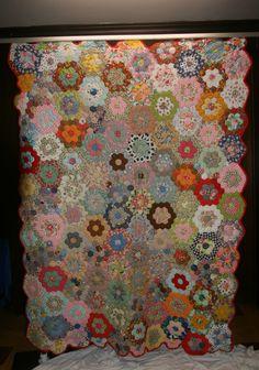 Honeycomb.  Made By: Swink, Elsie Mary Kisner.  1960's in Connellsville/Bullskin, Pennsylvania (PA) United States