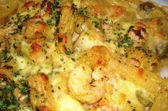 Cajun Macaroni and Cheese With Shrimp