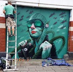 New Street Art by Rocket @Rocket01 for Bristol Upfest @Upfest #art #graffiti #mural #streetart