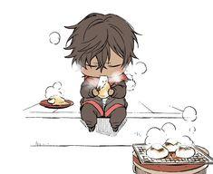 画像 Anime Demon Boy, Anime Guys, Manga Drawing, Figure Drawing, Chibi Food, Anime Child, Anime Boyfriend, Cute Chibi, Fan Art