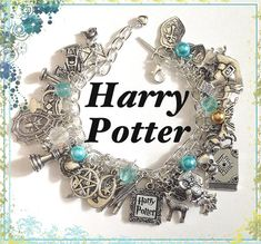 Harry Potter Jewelry Charm Bracelet Silver by princessofscraps, $35.99. @Danielle Lampert Hanchey Kiser this is so you