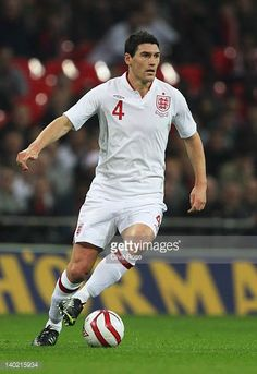 Gareth Barry Photos - Gareth Barry of England in action during the international friendly match between England and Netherlands at Wembley Stadium on February 2012 in London, England. - England v Netherlands - International Friendly Wembley Stadium, West Bromwich, Crystal Palace, England, Netherlands, February, Action, Image, The Nederlands