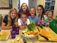 I am LOVING my summer cooking school for middle schoolers.The have all gone CRAZY over juicing and many of them went home and bought a juicer with their mom. Their incredible spirit and zeal for learning is so refreshing! Keep it up girls @welchwellness.com #allgirlscancook.