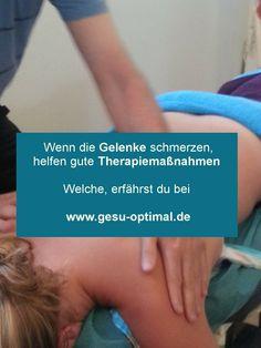 Hilfereiche Therapiemaßnahmen bei Gelenkbeschwerden - hier erfährst du mehr #gesuoptimal #gelenkbeschwerden Health Magazine, First Aid