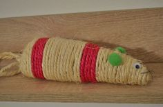 Rope mouse toy for cats by JasonLab on Etsy