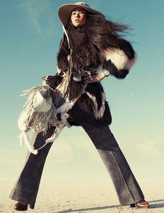 Liu Wen by Greg Kadel in Wild Dreams - Vogue Germany Nov 2010 - 1