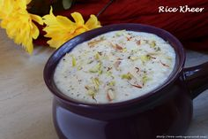 Rice Kheer / Chawal Ki kheer / rice pudding recipe by Dhwani Mehta with step by step photos. This Indian dessert is very easy to make. It is very popular..