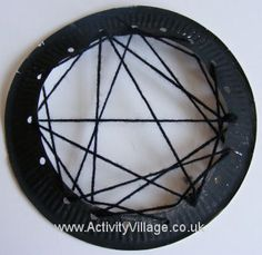 Paper plate spider web detail
