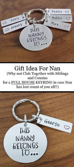 Gift Ideas For Grandma Gifts Nanny Keyring This