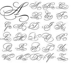54 Ideas Tattoo Fonts Cursive Calligraphy Typography For 2019 Calligraphie Alphabet Cursif, Tattoo Fonts Alphabet, Tattoo Lettering Fonts, Hand Lettering Alphabet, Cursive Letters, Cursive Fonts Alphabet, Font Tattoo, Letter Fonts, Monogram Alphabet