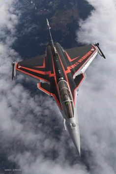 """dannikingg: """"New livery for Rafale solo display """" Aircraft - Aircraft art - Aircraft design - vintag Jet Fighter Pilot, Air Fighter, Fighter Jets, Military Jets, Military Aircraft, Rafale Dassault, Dassault Aviation, Aircraft Design, Jet Plane"""