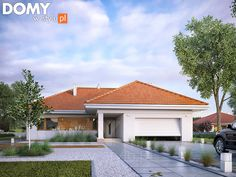 Find home projects from professionals for ideas & inspiration. AMBROZJA 7 by Biuro Projektów MTM Styl - domywstylu. Craftsman Bungalow Exterior, Craftsman Bungalows, Model House Plan, My House Plans, Design Exterior, Exterior House Colors, French Country Exterior, House Construction Plan, Small Cottage Homes