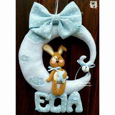 Birth ribbon made by @adrianaintressa *** Le Maddine & Maddy https://www.facebook.com/groups/531953423561246/ *** #madeinfacebook #lemaddine #handmade #handcrafted #instagram #instapic #instagood #picoftheday #instacool #handmade #cool #cute #sewing #embroidery #felt #pannolenci #birth #ribbon #boy #baby #itsaboy #newborn #rabbit #moon #sweet #star #nymeriafeltrohandmade