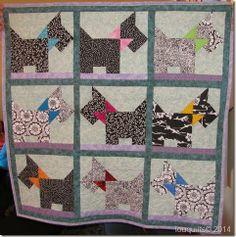 Scottie baby quilt by Carol G