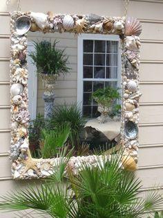 Large Shell Mirror by CarolinaShellArt on Etsy, $1200.00