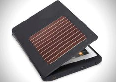 iPad Solar Charging Case  http://www.lovedesigncreate.com/kudo-solar-case-with-hdmi-for-ipad2-ipad3-black/