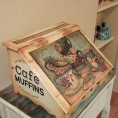 Ahşap boyama ekmek kutusu