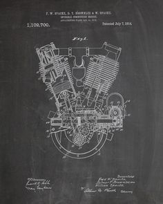 Engine Patent Print