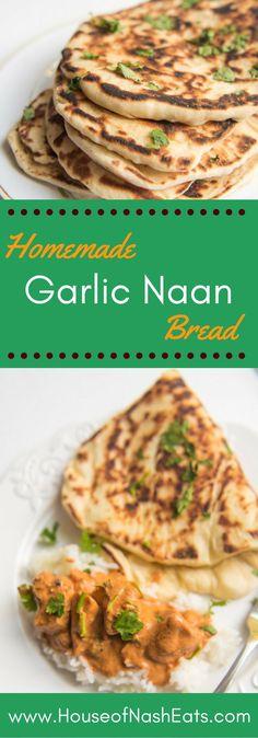 No need for a tandoori oven to make wonderful, warm homemade garlic naan bread…