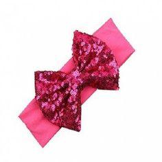 #GearBest - #Gearbest Fashion Elastic Children Headband Cute Sequins Bow Girl Hair Accessories - AdoreWe.com