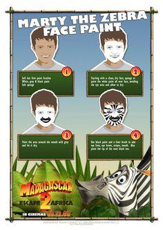 Family Read Night Zebra Face Paint