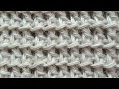 Tunisian Crochet - Fishnet - Pattern 13 (Russian with English subtitles... Deb)
